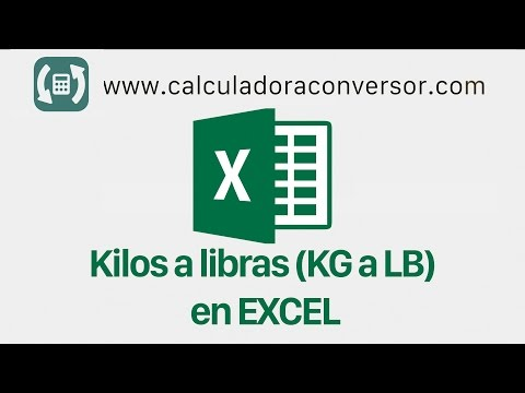 Kilos a libras en Excel | KG a LB