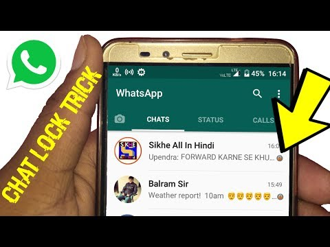 WhatsApp Chat Lock Trick Official