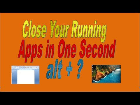 How to Close Running Apps by Using Keyboard Shortcut