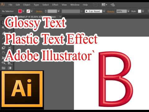 How to create Glossy Text Effect in Adobe Illustrator