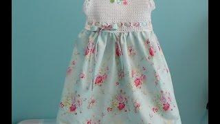 Abito Bimba Alluncinetto E Stoffa Da 3 7 Anni Crochet Baby Dress
