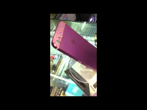 Purple Iphone 5 Housing with Cryatal Top and Bottom Glass