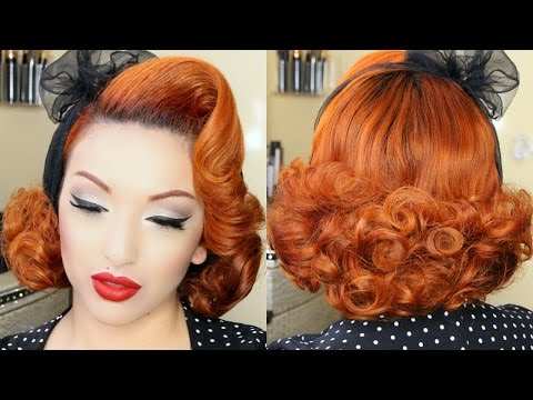Classic Pin-up Hair Tutorial
