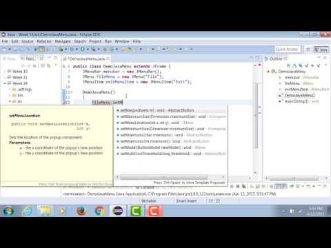 Java | Creating Menus