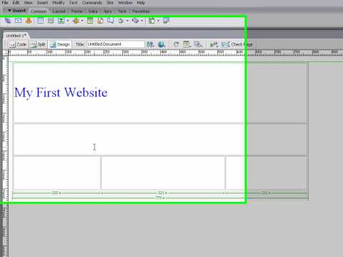 Making a simple website using dreamweaver CS3 (part 1)