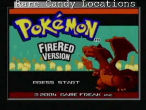 Pokemon FireRed/LeafGreen - Rare Candy Locations