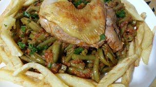 اطباق صيفية🌜 لوبيا مانجتو مجمرة وكأنها في الفرن لذيذة وسهلة وسريعة (فاصوليا خضراء)