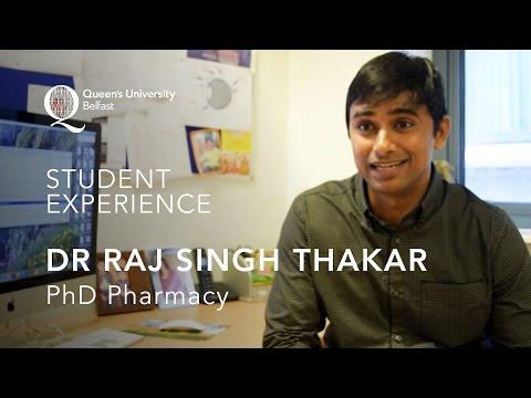 Pharmacy PhD Experience – Raj Singh Thakar