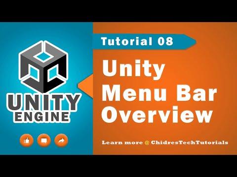 Unity Essentials Tutorial 08 - Menu bar