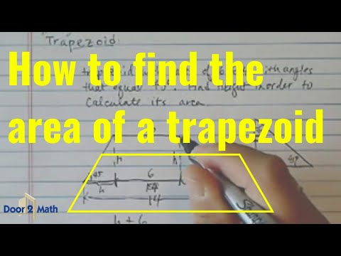 *Area of Trapezoid: a trapezoid with bases 6 and 14 & 45 degrees base angle.