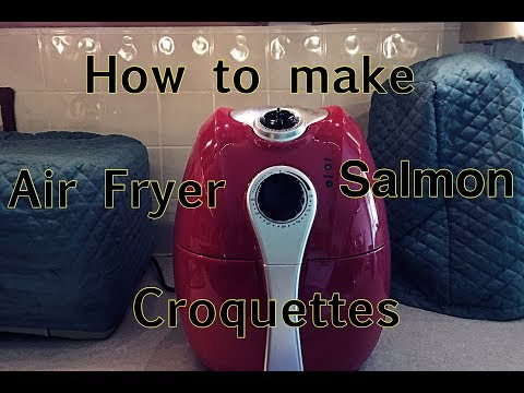 Quick & Easy Salmon Croquettes  (Air Fry)  👅