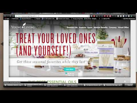 How To Create Your Own Young Living Sign Up Link