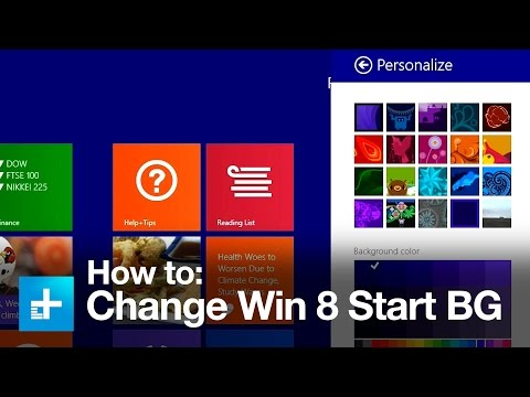 How to change the background in Windows 8 and 8.1's Start screen