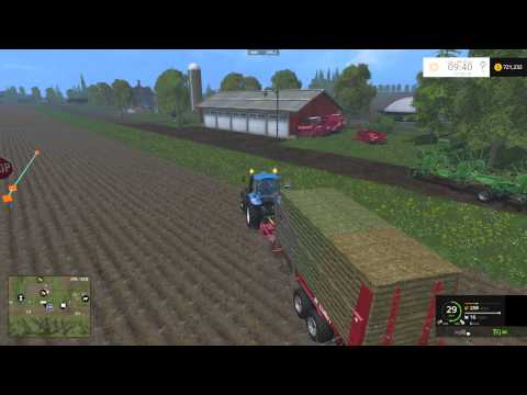 Courseplay Tutorial - How to collect and unload bales - Farming Simulator 15
