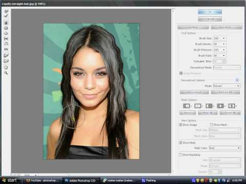 how to make curly hair on Photoshop CS3