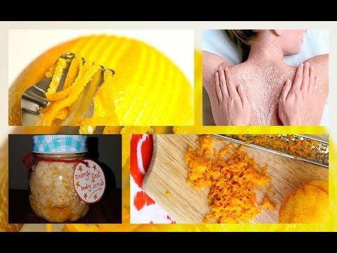 DIY Body scrub for dry skin | Orange body scrub homemade