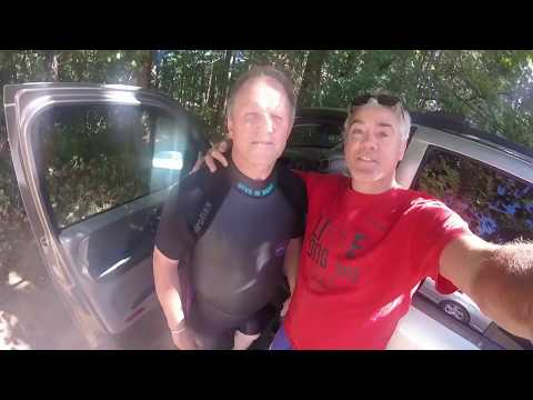 Dolf and Greg snorkel Puntledge Hatchery