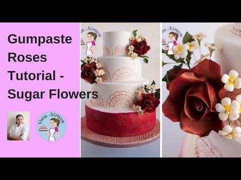 How to make Gum Paste Roses - Cake Decorating Tutorials