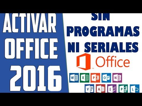COMO ACTIVAR OFFICE 2016 SIN PROGRAMAS|HOW TO ACTIVATE OFFICE 2016 WITHOUT PROGRAMS