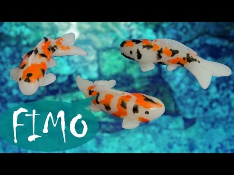 Japanische Koi Karpfen ~ ABC ~ Fimo / Polymerclay / Tutorial