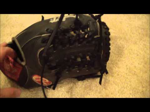 Rawlings Heart of the Hide T-Trapeze Before and After - Baseball Glove Relace