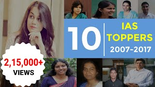 Know Secret Tips of 10 Famous IAS Toppers 2007-2017 to Clear UPSC