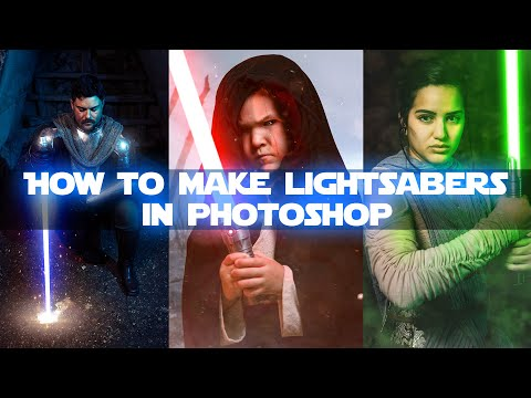 How to make lightsabers in Photoshop
