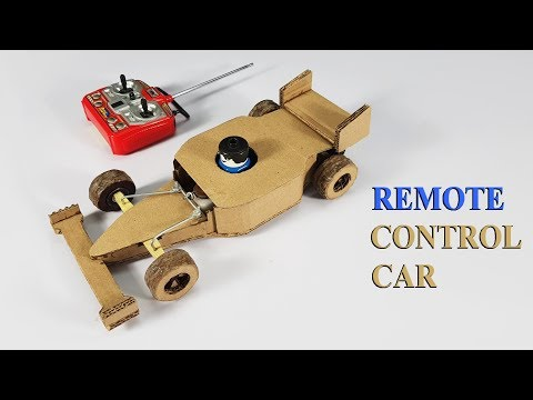 How to make Wireless Remote Control Car using cardboard