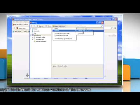 Mozilla® Firefox: How to back up and restore bookmarks in Windows® XP