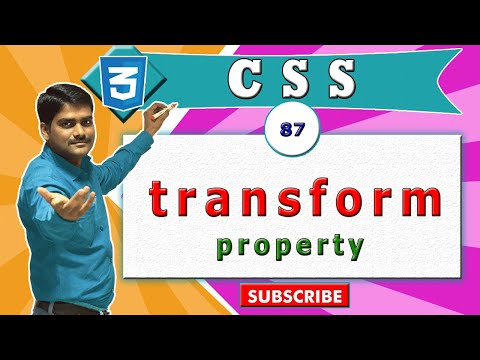 CSS Video Tutorial - 87 - CSS transform property & functions - intro