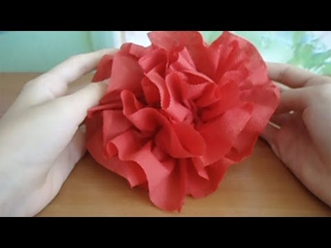 How to make a flower of a napkin for 3 minutes