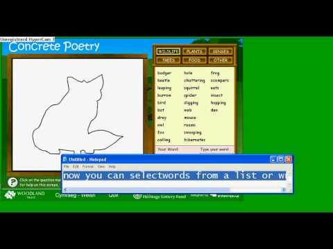 how to make a shape poem