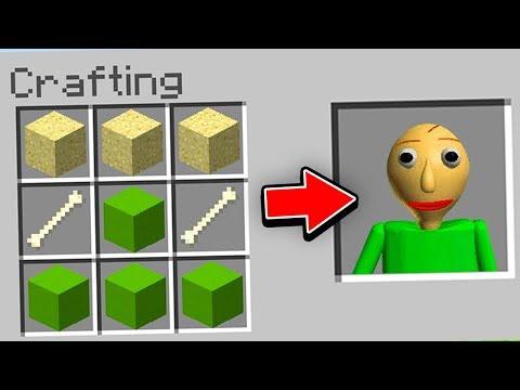 Minecraft : How To CRAFT BALDI! (Ps3/Xbox360/PS4/XboxOne/PE/MCPE)