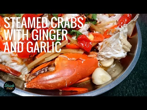 Shiokman Steamed Crabs with Ginger and Garlic