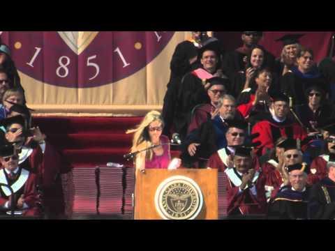 Brandi Chastain reenacts World Cup celebration at SCU