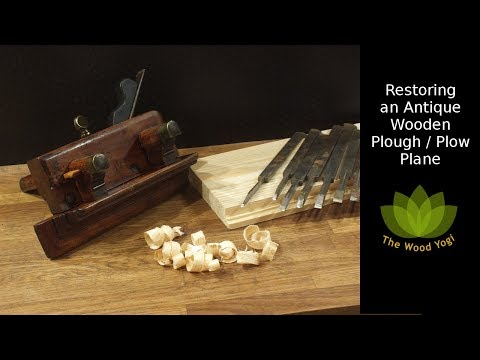 Restoring an Antique Plough - Plow Plane - Woodworking Tool