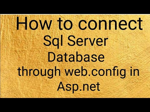 How to connect sql through Web config in asp.net c# by Ajit Kumar singh