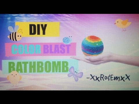 D.I.Y. Color Blast Bathbomb!!!🎨 (Without Citric Acid or Cream of Tartar)