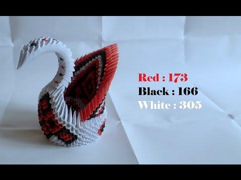 Origami 3D tutorial : Big Swan