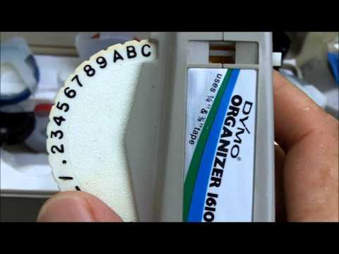 Vintage Dymo Organizer 1610