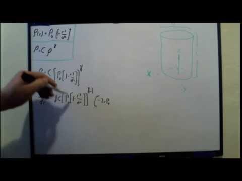 Calculate Pressure Distribution In a Tank