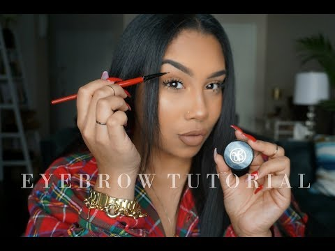 UPDATED: HOW TO DO YOUR EYEBROWS WHEN THEY ARE NOT DONE | TheAnayal8ter