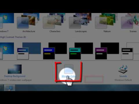 How to Create and save  Your Own Themes in Windows 7