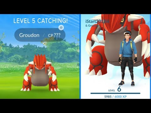 LEVEL 5 CATCHING A WEATHERED BOOSTED GROUDON IN POKEMON GO 2018