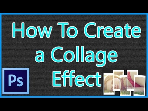 Adobe Photoshop CS6 - How To Create a Collage Effect Lang Bengali