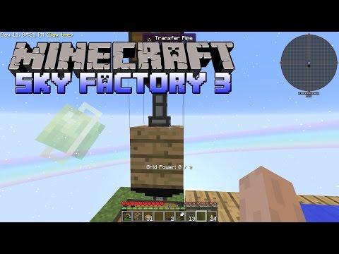 SkyFactory 3 - Automatic Dirt Generator And Spawning Mobs - Minecraft SkyFactory 3 Gameplay - Part 3