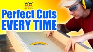 Build a crosscut sled: essential table saw jig
