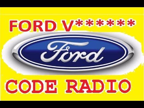Unlocked Ford V series,how decode serial radio,unlock radio 6000cd key code,calculator