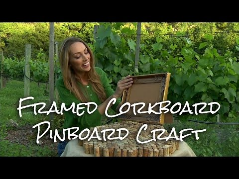 Framed Corkboard Pinboard Craft