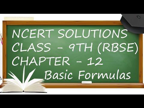 Basic Formulas Ex. 12.1.Ch 12. TSA, LSA & Volume Of Cuboide & Cube Class 9th Maths